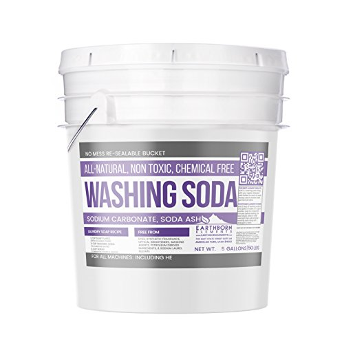 All-Natural Washing Soda (5 Gallon (50 lbs)) by Earthborn Elements, Soda Ash, Sodium Carbonate, Laundry Booster, Non Toxic, Hypoallergenic