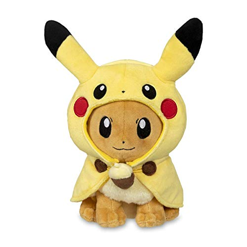 Pokemon POKÉ Plush Eevee Wearing Pikachu Cape