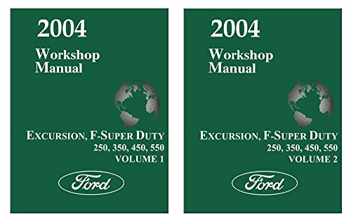bishko automotive literature 2004 Ford Excursion F-SUPER DUTY F250-F550 Shop Service Repair Manual ()
