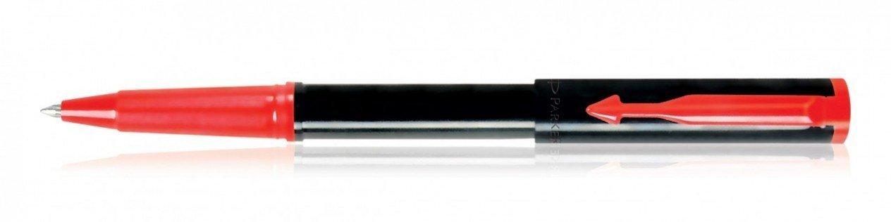 GENUINE PARKER BETA STANDARD Blue BODY ROLLER POINT PEN BLACK TRIM 0.5 MM
