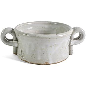 Amazon Com Anthony Stoneware Handled Soup Crock White