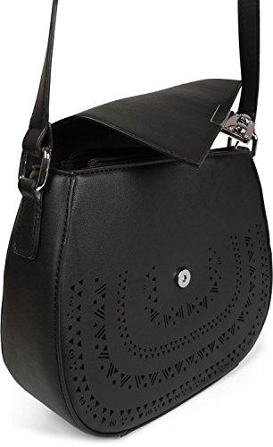 sac ethnique bandoulière découpe Sacoche à sac bandoulière styleBREAKER couleur Noir sac Noir avec en femmes 02012229 qvtHwwzx