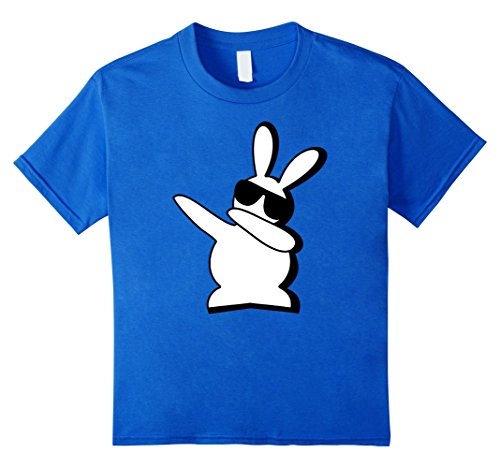 [Kids Hip Hop Rabbit Bunny Easter T Shirts 8 Royal Blue] (White Rabbit Dance Costumes)