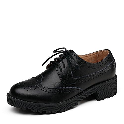 Bloch Casual B scarpe Retrò Pelle Con scarpe Spessore maschio Di Scarpe Primavera Vento Inghilterra XqF6H6