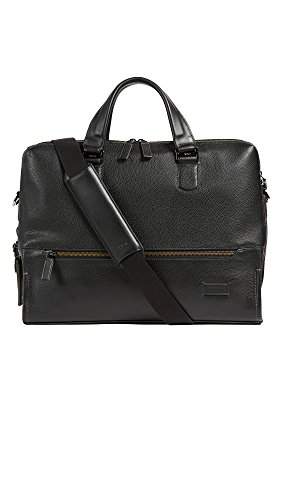 Tumi Men's Harrison Horton Double Zip Briefcase, Black, One Size by Tumi