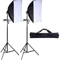 Safstar Photography Softbox 24x16 Socket Light Lighting Kit Photo Equipment Softbox with Stand (Set of 2)