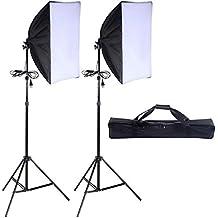 "Safstar Photography Softbox 24""x16"" Socket Light Lighting Kit Photo Equipment Softbox with Stand"