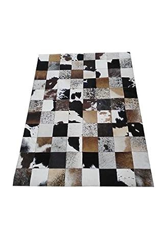 authentique tapis de peau de vache stile patchwork mesures 60x120 cms 100 - Tapis Vache