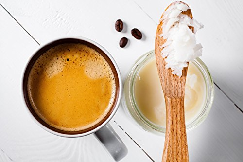 Organic coconut & [to mix only with butter coffee (faultless coffee)] ghee (grass-fed butter) 325ml EU organic certification [Parallel import] by Royal Green (Image #3)