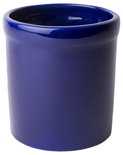 American Mug Pottery Ceramic Utensil Crock Utensil Holder, Made in USA, Blue Fiesta Utensil Crock