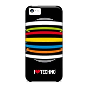 WEh9478DYGI SuperCurry I Love Techno Durable Iphone 5c Tpu Flexible Soft Case