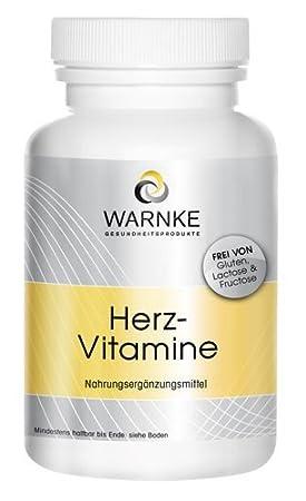 Vitaminas para el corazón - Multivitaminas con coezima Q10, extracto de uva, aminoácidos - 90 cápsulas - vegetariano - 87g: Amazon.es: Salud y cuidado ...