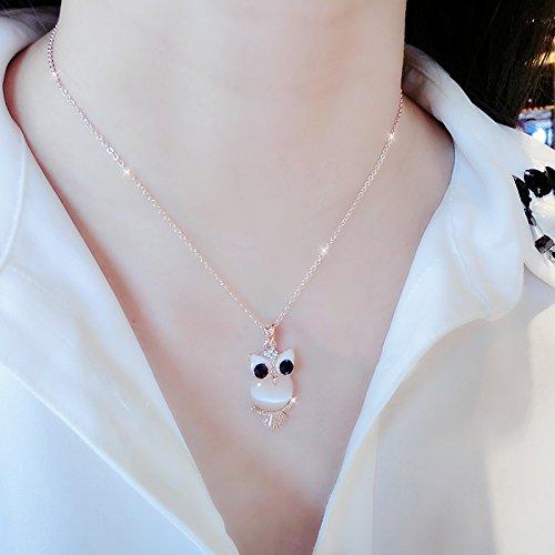 y _Russia_585_Purple_ necklace pendant women girl models rose gold color gold necklace pendant pendant s ()