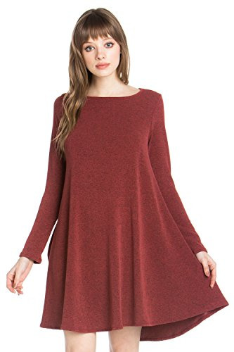 Top K2700ojao Women's Junky Burgundy Closet Pocket Tunic Print Side Dress wvP8YB8Fqx