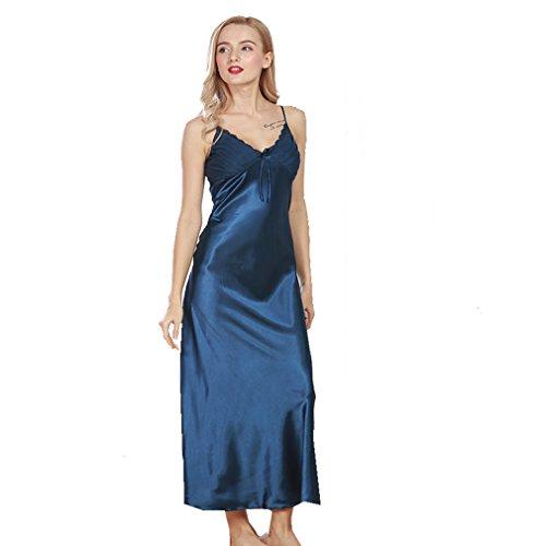 e da Pigiami Vestaglie Camicie Pizzo Kimono Decorato Donna e Blu Notte BOYANN 5nfpq8xq