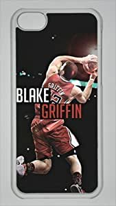 LJF phone case Blake Griffin Los Angeles Clippers #32 NBA Custom PC Transparent Case for iphone 4/4s by icasepersonalized