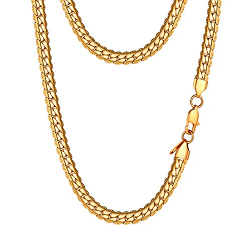 (PROSTEEL Miami Gold Chain Cuban Link Necklace 18K Plated Hiphop Rock Gift Women Men Jewelry Hip Hop Chain)