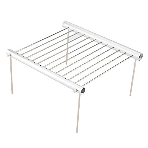 Portable Grill, Portable Compact Camping Grill Stainless Steel Folding BBQ Tube Outdoor Backpackers