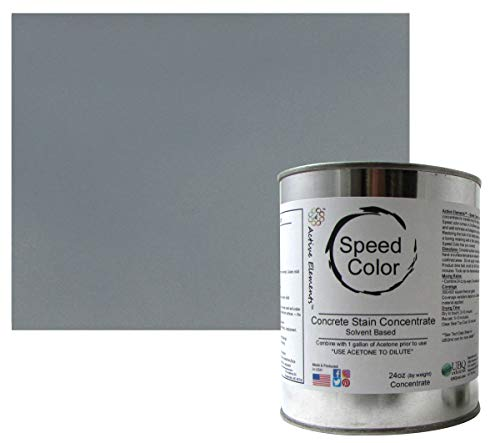 Ten Second Color (TSC) Concrete Dye Concentrate Makes 32oz. Professional Grade and Easy to use. Brilliant Bold Colors. Semi-Transparent Cement Dye. Dries in Seconds (Storm Grey) ()