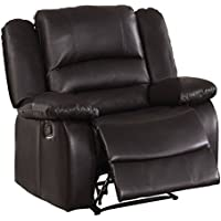 Homelegance Jarita Reclining Chair Bi-Cast Vinyl Cover, Brown