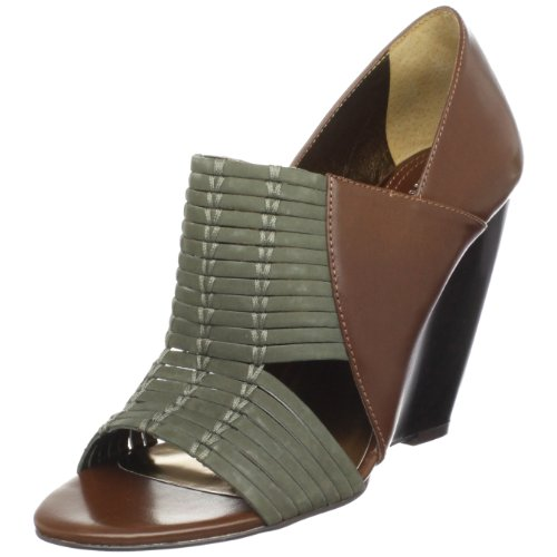 Flit Charles David Cognac Wedge Women's by Khaki Charles Fq1wIq4