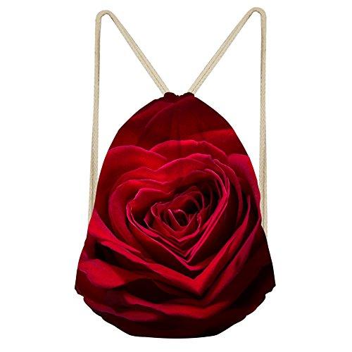 Showudesigns Colorful Flower Unisex Adult Drawstring Backpack Rucksack Gym Bag