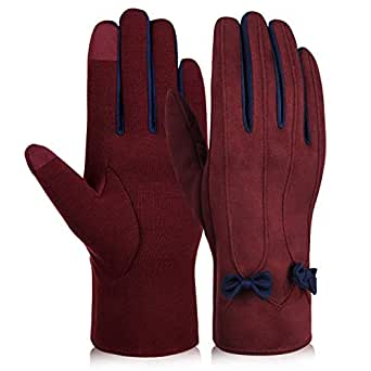 Thadensama Women Winter Warm Gloves Touch Screen Casual