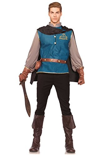 [Leg Avenue Men's 4 Piece Storybook Prince Costume, Multi, X-Large] (Storybook Prince Adult Mens Costumes)