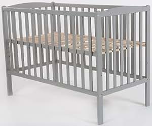QUAX Cuna Basic Baby Eline grey (60 x 120 cm)