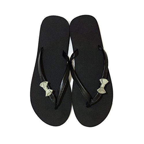 Femme Petit Plate Heel Filles EVA on Noir Wedge Plat Plage en Forme pour Toe Mid Talon mi Été Chaussures 3 Clip Sandale Vacances Casual Arc Vert Belle Dames 5cm avec Slipper Slip PCq4qw