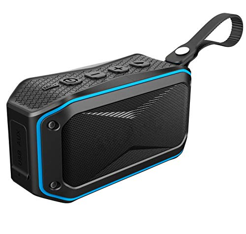 Xiiffane Wireless Bluetooth Speaker Outdoor Cycling IPX7 Waterproof Car Mini Portable Small Audio Suitable for Rock Climbing/Cycling/Surfing/Rest/Party(Blue)