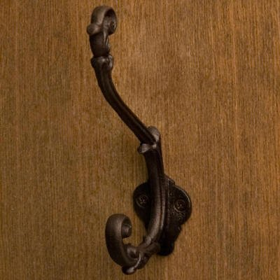 (Solid Bronze Flourish Double Coat and Hat Hook by OutletBestSelling (bronze patina ))
