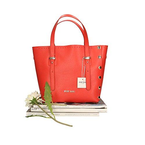 Corail Sac POP à en main cuir Saffiano Bags Impression femme Cm in 23x23x12 véritable Made Italy 5wwrZq