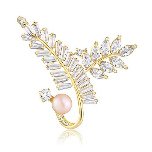 M&D Jewelry Tree Brooch Pin Pearl Brooch pin Winter Fashion Jewelry (Gold Tree Brooch)