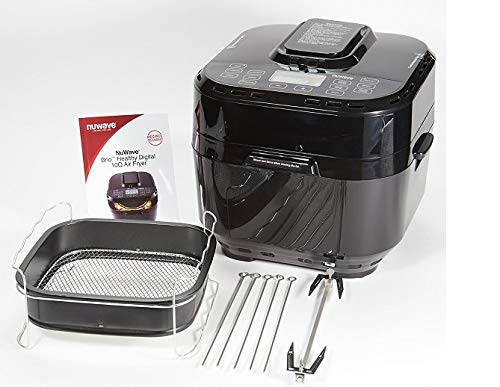NuWave Brio Black 10 Quart Digital Air Fryer with 3 Piece Gourmet Accessory Kit by NuWave (Image #2)