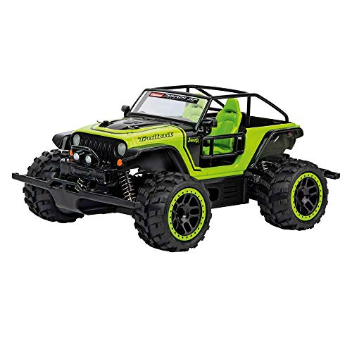 Carrera 1:18 Scale Electric 4WD Full Metal Gear Profi RC Jeep Trailcat Off Road Vehicle ()
