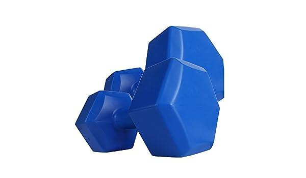 Plástico mancuernas hexagonal 2 x 4 kg para flexiones - Mancuernas hexagonales: Amazon.es: Deportes y aire libre