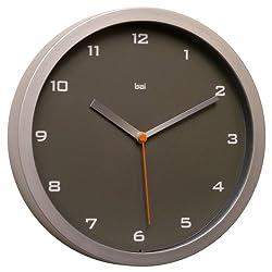 Bai Designer Wall Clock, Gotham Charcoal