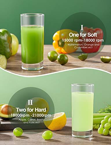 Aicok Centrifuga Frutta e Verdura, 800W Potente Estrattore di Succo Freddo con 75MM Bocca Larga, Piedi Anti-scivolosi e… 2