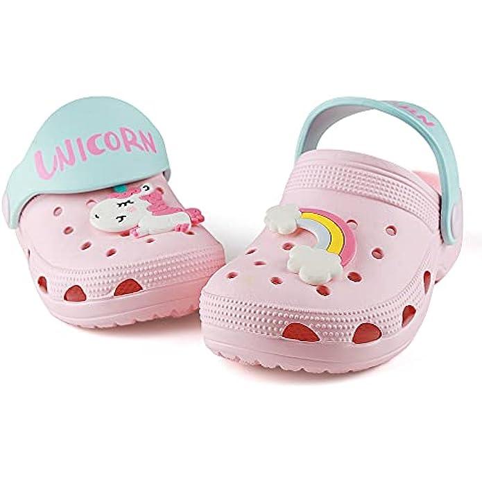 Qtdstz Kids Garden Clogs Slip On Shoes Summer Beach Water Sandals