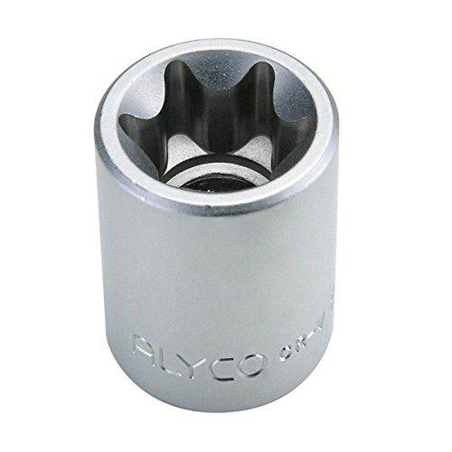 Llave de vaso 1//2 Torx hembra Cr-V cromado mate tipo E-14 x 38 mm Alyco 192296