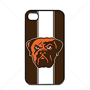 NFL American football Cleveland Browns Fans Case For Iphone 5C Cover PC Soft (Black)