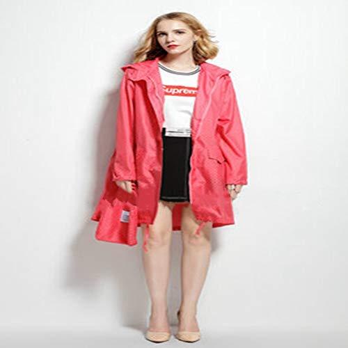 Pink Légère Long Mince Vestes Femmes De Pluie Dots Hmjnhdxw With nbsp; Manteau Femme Capuche nbsp;imperméable Imperméable M nbsp; 46xqwqA