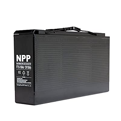 Best Cheap Deal for NPP 12V 150 Amp FT12 150Ah Front Access Telecom Deep Cycle AGM Battery With Button Style Terminals from NPP - Free 2 Day Shipping Available
