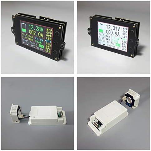 SNOWINSPRING DC500V 50A Medidor de Voltaje Inal/áMbrico Amper/íMetro Bater/íA Solar Cargando Capacidad de Coul/óMetro Detector de Potencia Probador