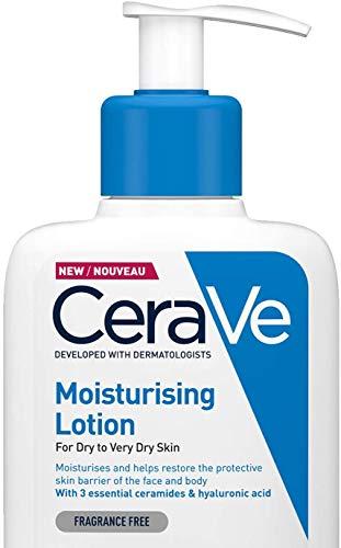 CeraVe Moisturising Lotion | 236ml/8oz | Daily Face & Body Moisturiser for Dry to Very Dry Skin
