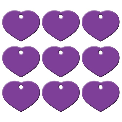 Wholesale 20Pcs Customized Personalized 2 Sides Heart-Shaped Aluminum Dog Cat Tag Pet Collar Accessories ID Tag Name Telephone Purple 38X33X1MM