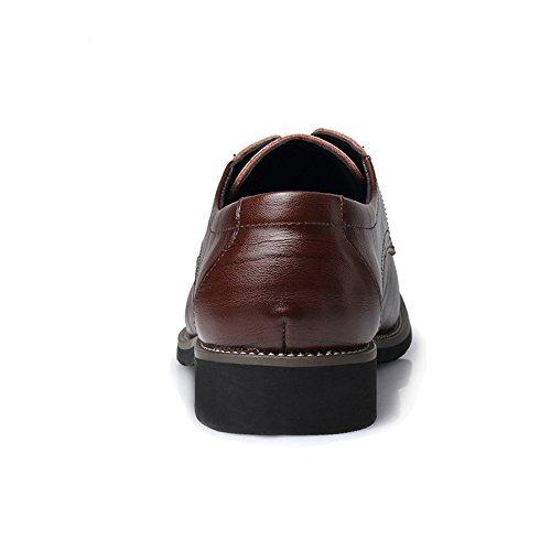 Coffee Uomo Classiche Fashion Scarpe Stringate Top Pelle Oxford Formale Foderato Iwgr Slipper Da Mocassini Pu In Low 1Exaw