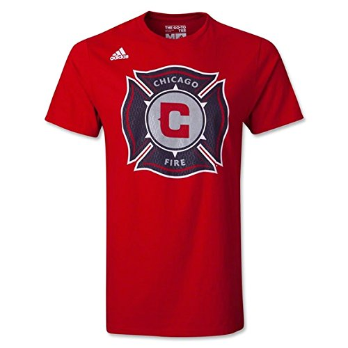 fan products of Chicago Fire Adidas MLS Primary Logo Men's Red T-Shirt