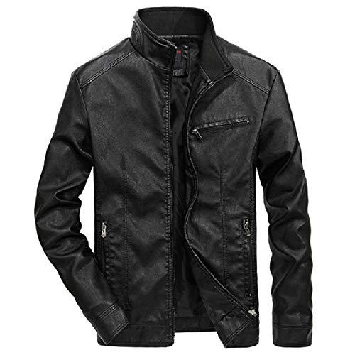 Faux Leather XINHEO Biker Motorcycle Leather Jacket 1 Pu Casual Leisure Mens Solid UZZpwrYxCq